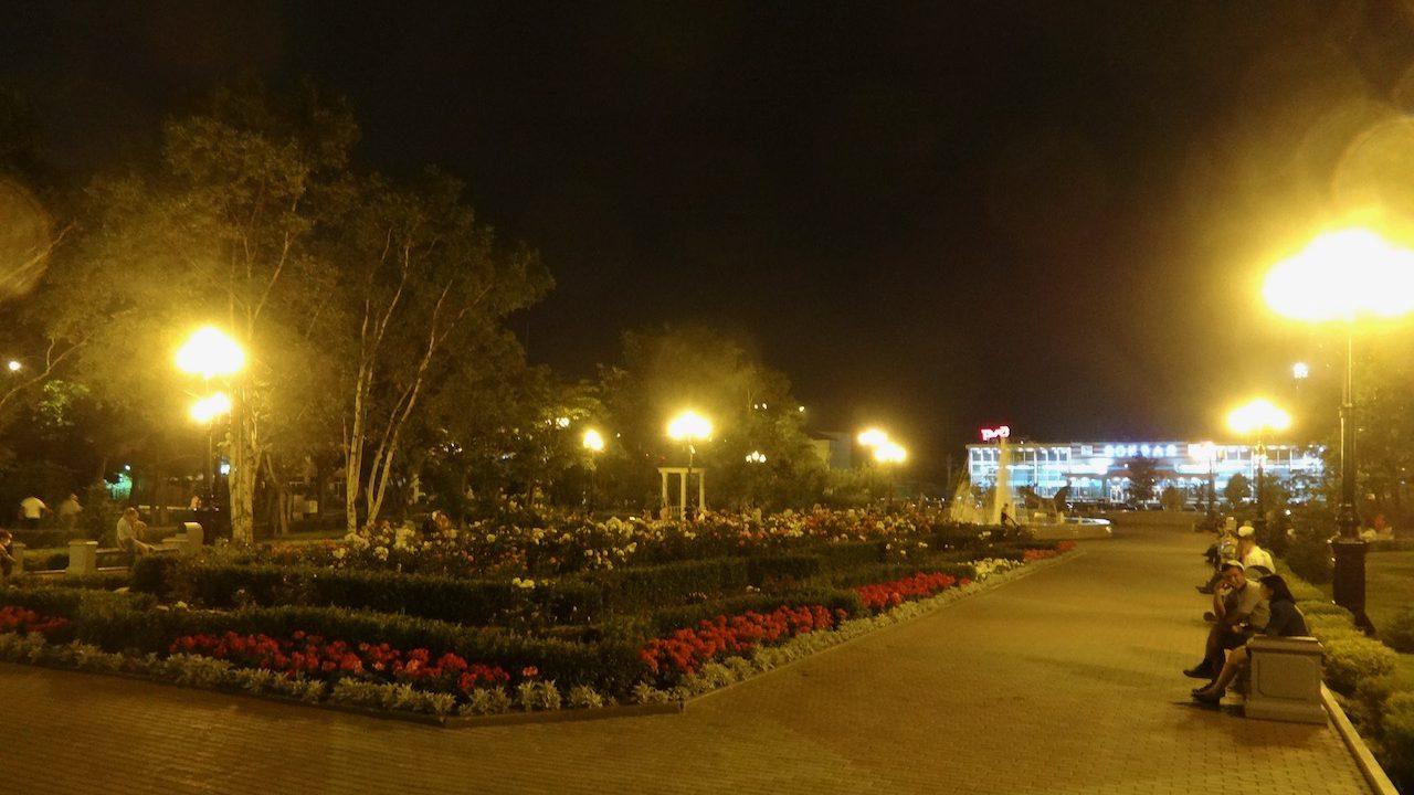 夜のユジノサハリンスク散歩